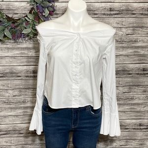 Free People March to the Beat Off Shoulder Top